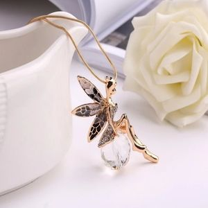 Fairy Butterfly On a Crystal Ball Pendant Necklace